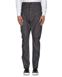 Poeme Bohemien - Gray Casual Trouser for Men - Lyst