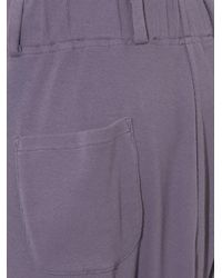 Haider Ackermann - Purple Ribbed-jersey Drop-crotch Track Pants for Men - Lyst