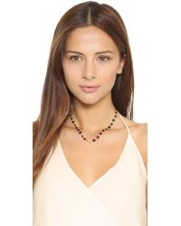 Ela Rae | Metallic Libi Necklace - Garnet/moonstone | Lyst
