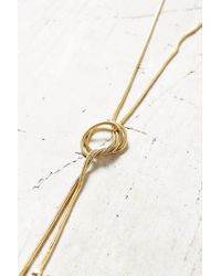 Urban Outfitters | Metallic Playful Knots Versatile Lariat Necklace | Lyst