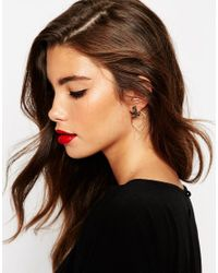 ASOS | Gray Occasion Open Swing Earrings | Lyst