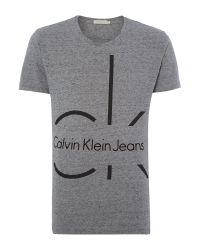 Calvin Klein - Gray Taklan 2 T-shirt for Men - Lyst
