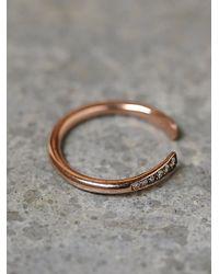 Zoe Chicco | Metallic Womens Rising Diamond Ring | Lyst