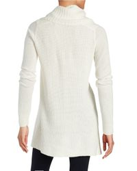 T Tahari | White Cowlneck Sweater | Lyst