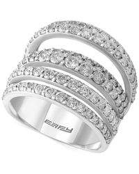 Effy Collection - Metallic Pave Classica By Effy Diamond Ring (2-1/2 Ct. T.w.) In 14k White Gold - Lyst