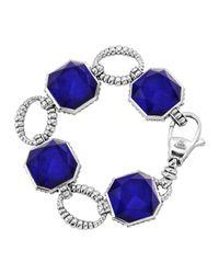 Lagos - Blue Color Rocks Faceted Lapis Bracelet - Lyst