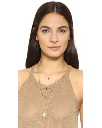 Serefina - Green Layered Moon Coin Necklace - Lyst