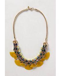 Anthropologie | Yellow Sugared Lemon Bib Necklace | Lyst