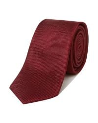 SELECTED | Black Sel Texture Tie for Men | Lyst