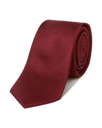 SELECTED - Black Sel Texture Tie for Men - Lyst