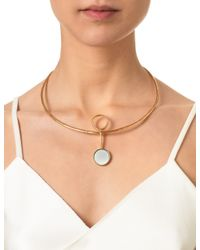 Bjorg | Metallic Gold The Spinx Illusion Necklace | Lyst