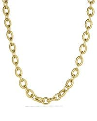 David Yurman - Yellow Large Oval Link Necklace In Gold - Lyst