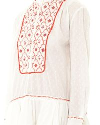 Thierry Colson | White Lizabeth Embroidered Dress | Lyst