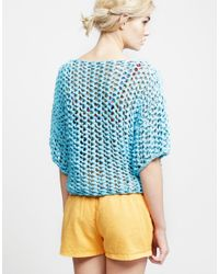 Wool And The Gang | Blue Ariel Top | Lyst