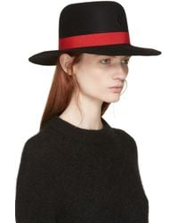 Marcelo Burlon | Black And Red Gaucho Hat | Lyst