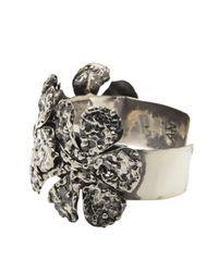 Anndra Neen | Metallic 'melted Flower' Cuff | Lyst
