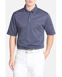 Bobby Jones | Blue 'Austin' Regular Fit Jacquard Polo for Men | Lyst