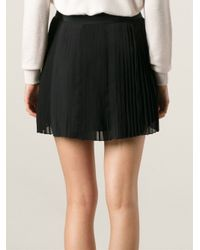 Vanessa Bruno Athé - Black Pleated Skirt - Lyst