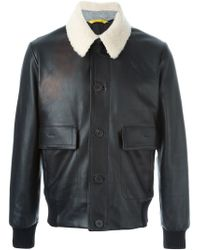Canali - Black Aviator Jacket for Men - Lyst