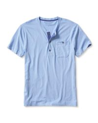 Banana Republic | Blue Soft-wash Pocket Henley for Men | Lyst
