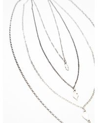 Free People | Metallic Waterfalls Necklace | Lyst