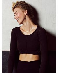 Free People | Black Keeping Tempo Top | Lyst