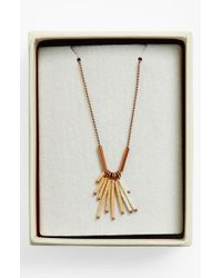 Maison Scotch | Metallic Beaded Necklace - Copper | Lyst