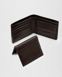 Ted Baker   Brown Metal Corner Wallet for Men   Lyst