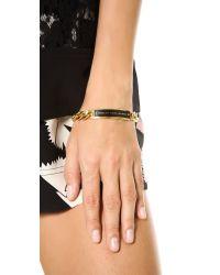 Marc By Marc Jacobs - Metallic Enamel Id Bracelet Black - Lyst