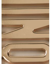 Moschino | Metallic Logo Plate Earrings | Lyst