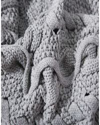 ASOS - Gray Cable Scarf - Lyst