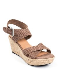 Me Too | Brown Porsha Platform Wedges | Lyst