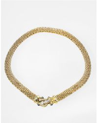 Lord & Taylor | Metallic Sapphire And Diamond Closure 14k Gold Necklace | Lyst