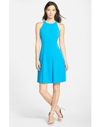 Marc New York - Blue By Andrew Marc Crepe Fit & Flare Dress - Lyst