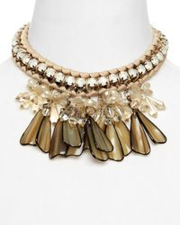 Weekend by Maxmara | Brown Canasta Necklace, 16"