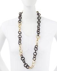 Ashley Pittman | Metallic Mawani Dark Horn & Bronze Necklace | Lyst
