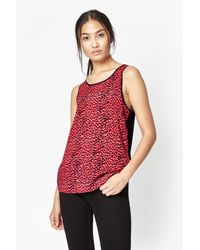 French Connection | Red Wildcat Polly Tencel Top | Lyst
