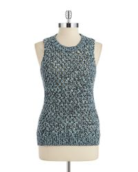 T Tahari | Blue Sweater Vest | Lyst