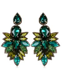 Suzanna Dai | Green Cuzco Drop Earrings, Olive/teal | Lyst