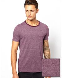 ASOS | Purple Tshirt with Pocket and Textured Yarn for Men | Lyst