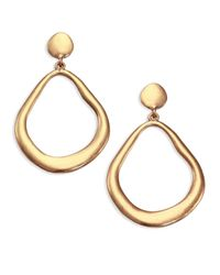 ABS By Allen Schwartz - Metallic Sunset Blvd Doorknocker Earrings - Lyst