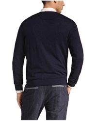 BOSS Orange | Blue 'keplen' | Virgin Wool Blend Striped Sweater for Men | Lyst