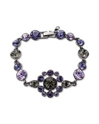 Givenchy   Purple Hematite Tone and Mixed Violet Crystal Bracelet   Lyst