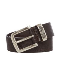 Armani Jeans | Brown Exclusive Leather Buckle Fastening Belt for Men | Lyst