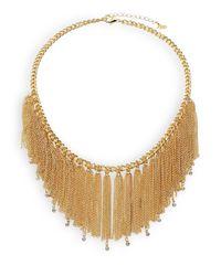 ABS By Allen Schwartz - Metallic Color Reaction Chain Tassel Bib Necklace - Lyst