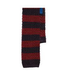 Polo Ralph Lauren | Black Striped Knit Silk Tie for Men | Lyst