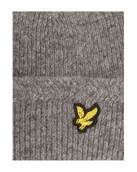 Lyle & Scott | Gray Classic Ribbed Beanie Hat for Men | Lyst