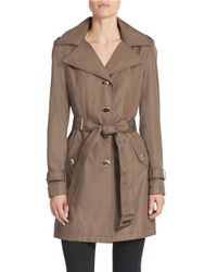 Calvin Klein | Brown Plus Belted Trench Coat | Lyst