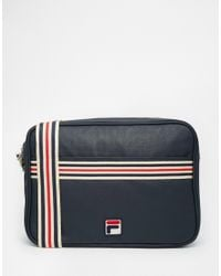 Lyst - Fila Vintage Messenger Bag in Blue for Men 2242f8263f425