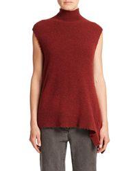3.1 Phillip Lim - Red Sleeveless Mock-neck Pullover - Lyst